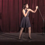 Alison Kawa onstage at Great Star Theater