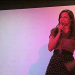 Alison Kawa onstage at Rebel